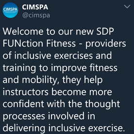 CIMSPA media post outlining FUNction Fitness CPD.