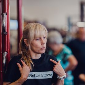 group fitness instructor wendy with function fitness