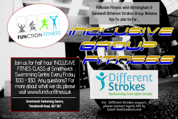 inclusive fitness poster for FUNction Fitness classes in west midlands
