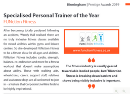 Specialist Personal Trainr Of The Year 2019